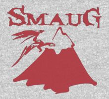 Red Smaug T-shirt by Nasherr