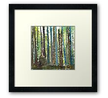 Morning walk, acrylic and zentangles on canvas Framed Print