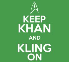 Keep Khan and Kling On Kids Clothes