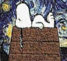 The starry night with Snoopy Sticker