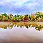 Misty Lake in the Fall by DottieDees