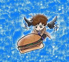 Castiel Burger phonecase by bizzyk