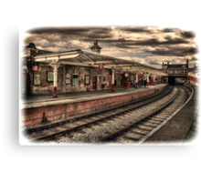 Vintage Keighley Station Canvas Print