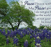 Texas Bluebonnets Peace by paws4critters