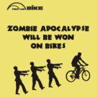Cycling T Shirt - Zombie Apocalypse Will be Won on Bikes by ProAmBike