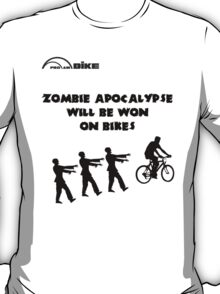 Cycling T Shirt - Zombie Apocalypse Will be Won on Bikes T-Shirt