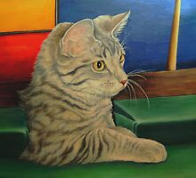 Kitten in a Side Pocket 3 by Pam Humbargar