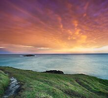 Headland sunset by dan  stewart
