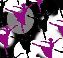 Ballerina Bokeh Light Spots Purple by Patience Miller