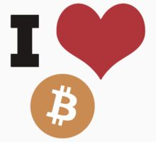 I Heart Bitcoin tshirt by RedPine