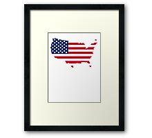 American Flag USA Silhouette Framed Print
