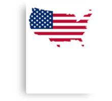 American Flag USA Silhouette Canvas Print