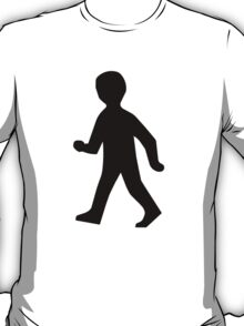 Child Crossing Silhouette T-Shirt