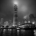 Rising towers of Hong Kong b&w by vishwadeep  anshu