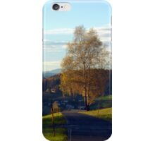 Tree, road and indian summer evening II | landscape photography iPhone Case/Skin