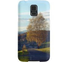 Tree, road and indian summer evening II | landscape photography Samsung Galaxy Case/Skin