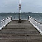 Pier at Eastern Beach by Leonie Morris