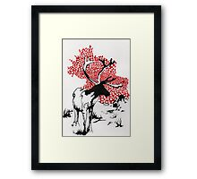 Reindeer drawing Framed Print