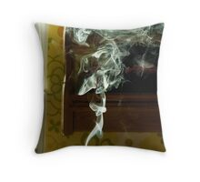 Smoke from a candle Throw Pillow