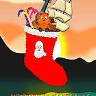 A Merry Christmas Stocking card by Dennis Melling