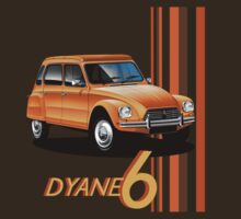 Citroen Dyane 6 T-shirt by Autographics