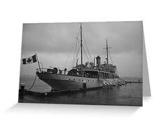 CSS Acadia in Halifax Harbour Nova Scotia Greeting Card