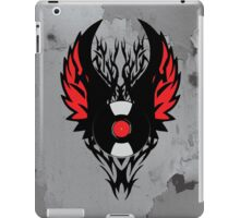 Retro PUNK ROCK Vinyl Record Art - Tribal Spikes and Wings - Cool Music Lover DJ T-Shirt Prints Cases and Stickers iPad Case/Skin