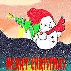 Christmas Snow Baby card by Dennis Melling