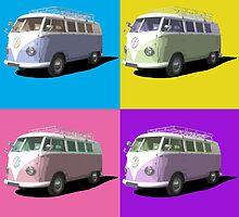 Pop Art Style Campervan by PopArtExpress