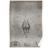 Skyrim Song Of The Dragonborn Poster Poster