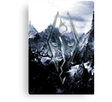Skyrim Winter Poster Canvas Print