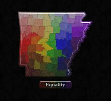 Arkansas Rainbow Map - LGBT Equality by LiveLoudGraphic