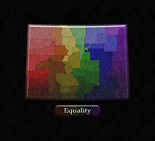 Colorado Rainbow Map - LGBT Equality by LiveLoudGraphic