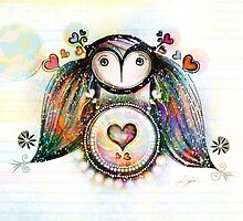 Love and Light Owl by © Karin  Taylor