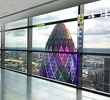 London Gherkin Tower by ArtByRuta