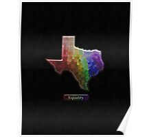 LGBT Equality Texas Rainbow Map - LGBT Equality Poster
