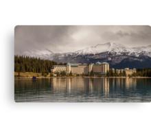 The Beautiful Chateau at Lake Louise Canada Canvas Print