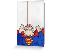 Man of Steel. Greeting Card