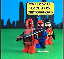 Deadpool speaks to Siri by LegoLegion