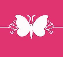 Pink Butterfly Swirls Design by superstarbing