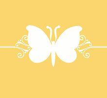 Yellow Butterfly Swirls Design by superstarbing