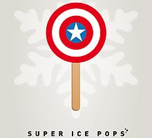 My SUPERHERO ICE POP - Captain America by Chungkong