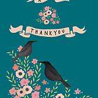 "A  PRETTY, FLORAL, ""BIG THANK YOU"" CARD by Jane Newland"