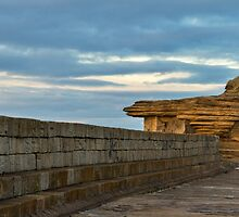Burghead Harbour Pier Wall by JASPERIMAGE