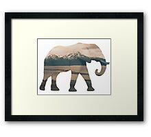 Elephant and Homer Spit Framed Print