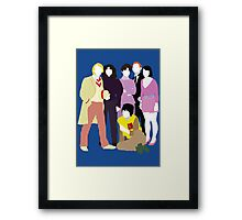 Five and his Companions - Doctor Who Framed Print