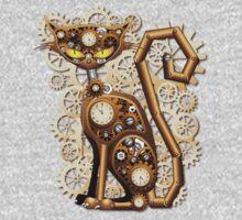 Steampunk Cat Vintage Style Kids Clothes
