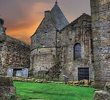 Inchcolm Abbey Chapter and Warming House by Miles Gray
