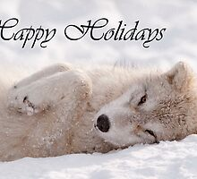 Arctic Wolf Holiday Card 6 by WolvesOnly