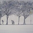 Snow in the Meadows by Ross Macintyre